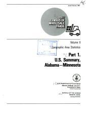 1977 census of wholesale trade: Geographic area statistics