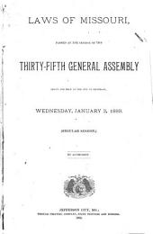 Acts of the ... General Assembly of the State of Missouri