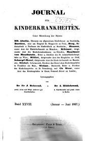 Journal für Kinderkrankheiten: Bände 28-29