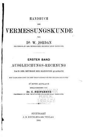 Handbuch der Vermessungskunde PDF