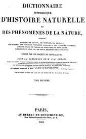 Dictionnaire pittoresque d'histoire naturelle, et des phʹenomènes de la nature: Volume2