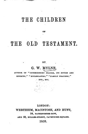 The Children of the Old Testament