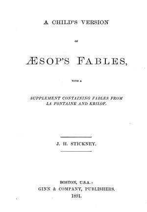 A Child s Version of   sop s Fables PDF
