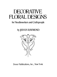 Decorative Floral Designs for Needleworkers and Craftspeople PDF