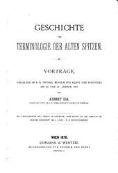Geschichte und Terminologie der alten Spitzen