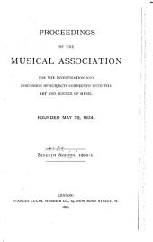 Proceedings of the Royal Musical Association: Volumes 7-9