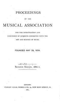Proceedings of the Royal Musical Association PDF