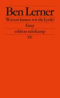 Warum hassen wir die Lyrik  PDF