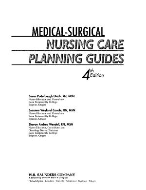 Medical surgical Nursing Care Planning Guides PDF