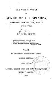 The Chief Works of Benedict de Spinoza PDF