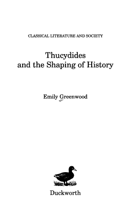 Thucydides and the Shaping of History PDF