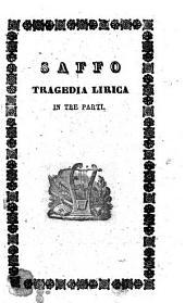 Saffo tragedia lirica in tre parti ... poesia di Salvadore Cammarano