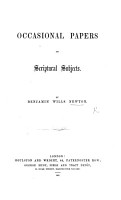Occasional Papers on Scriptural Subjects  no  1 4 PDF