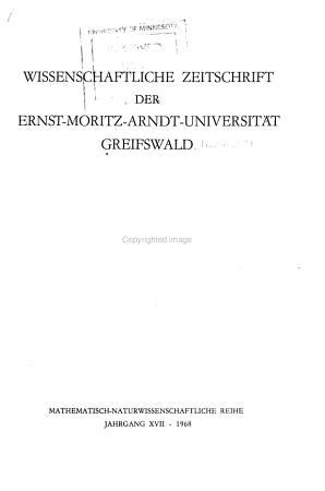 Wissenschaftliche Zeitschrift der Ernst Moritz Arndt Universit  t Greifswald PDF