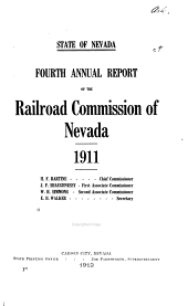 Reports of the Railroad and Public Service Commissions of Nevada: Volume 4