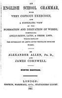 A new English grammar  by A  Allen and J  Cornwell PDF