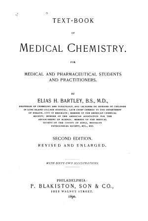 Text book of Medical Chemistry for Medical and Pharmaceutical Students and Practitioners