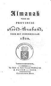 Almanak voor de Provincie Noord-Braband, voor het jaar ....: Volume 6