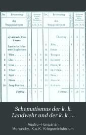 Schematismus der k. k. Landwehr und der k. k. Gendarmerie der im Reichsrathe vertretenen Königreiche und Länder für 1899