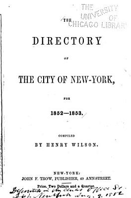 The Directory of the City of New York      PDF