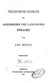 Vergleichende Grammatik der griechischen und lateinischen Sprache: Band 1
