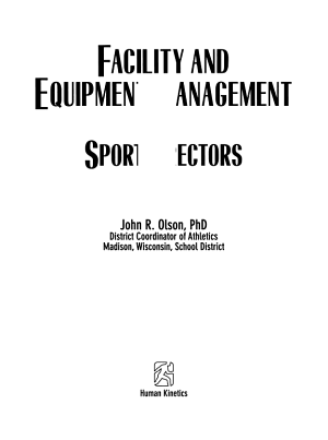Facility and Equipment Management for Sportdirectors PDF