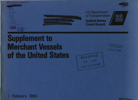 Supplement to Merchant Vessels of the United States PDF