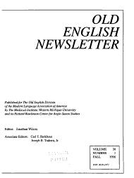 Old English Newsletter PDF
