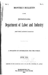 Labor and Industry: Volume 1