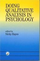 Doing Qualitative Analysis in Psychology PDF