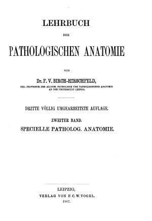 Lehrbuch der pathologischen Anatomie PDF