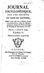 Journal encyclopédique: Volume3;Volume5