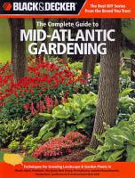 Black   Decker The Complete Guide to Mid Atlantic Gardening PDF