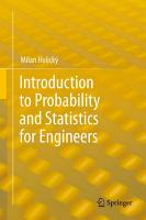 Introduction to Probability and Statistics for Engineers PDF