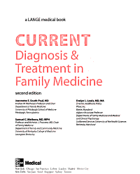 CURRENT Diagnosis   Treatment in Family Medicine  Second Edition PDF