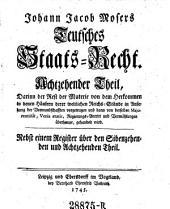 Teutsches Staats-Recht: Band 20