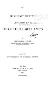 An Elementary Treatise on Theoretical Mechanics: Part 2