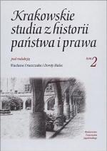 Krakowskie studia z historii panstwa i prawa