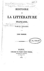 Histoire de la littérature française: Volume1