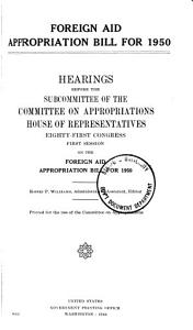 Foreign Aid Appropriation Bill  1950 1951 PDF