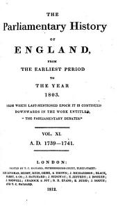 The Parliamentary History of England from the Earliest Period to the Year 1803: Volume 11