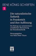 Die naturalistische   sthetik in Frankreich und ihre Aufl  sung PDF