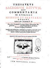 Thesaurus sacrorum Rituum, seu Commentaria in rubricas missalis...
