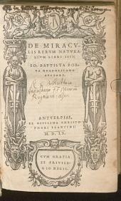 De Miraculis Rerum Naturalium Libri IV