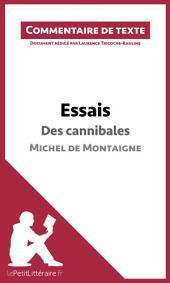 Essais de Montaigne - Des cannibales (livre I, chapitre XXXI): Commentaire de texte