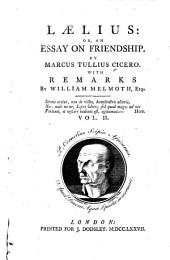 Laelius; Or, An Essay on Friendship