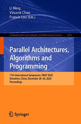 Parallel Architectures  Algorithms and Programming PDF