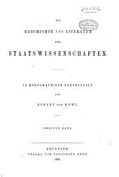 Die Geschichte und Literatur der Staatswissenschaften: in Monographieen dargestellt