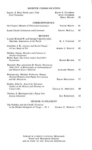 The Journal of the Polynesian Society PDF