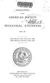 Transactions of the American Society of Mechanical Engineers: Volume 11